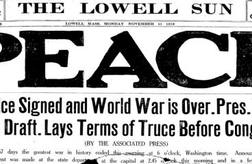 WORLD WAR I ENDED 100 YEARS AGO